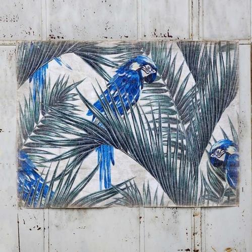 Mural  Cacatúa Azul