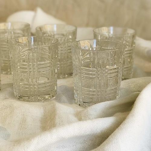 Set de 6 vasos III
