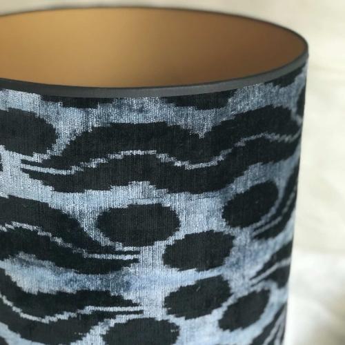 PANTALLA  en tonos negros y azules