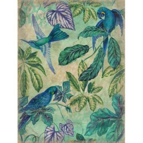 Mural Aves azules.