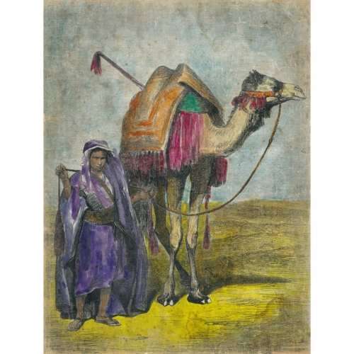Mural Jinete con camello.