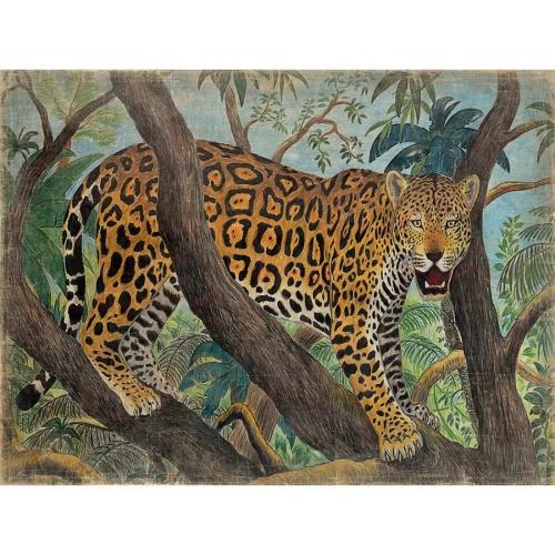 Mural Tigre en árbol.