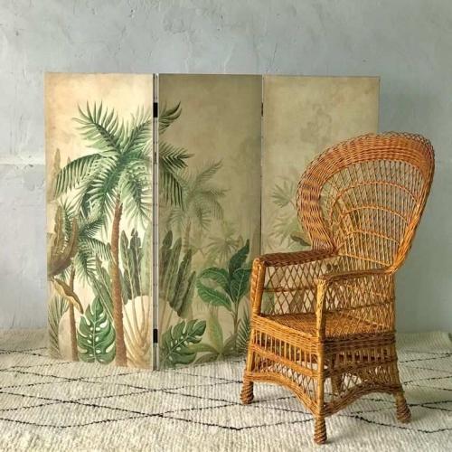 Biombo de madera en papel froisser