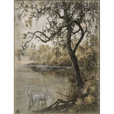 paisaje con cisne