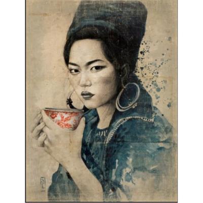 mural vietnam taza de té