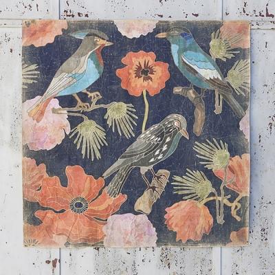 mural pajaros japoneses