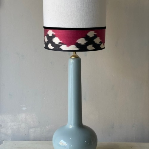 lampara gris combinado lino e ikat