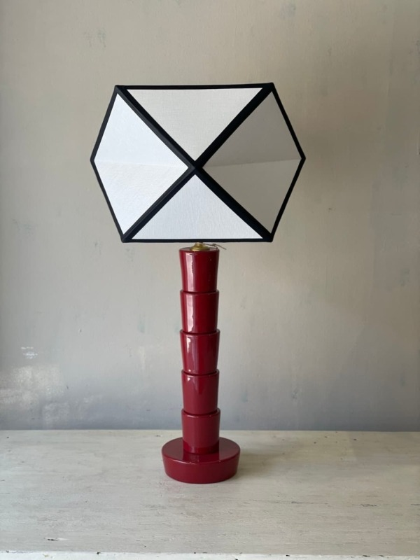 Lámpara Caleidoscopio roja